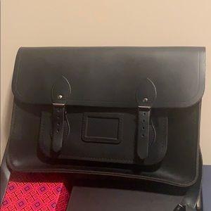 Cambridge satchel company black leather satchel